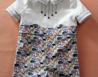9201a7aa9 Queue at the Zoo - Toddler Romper - boy