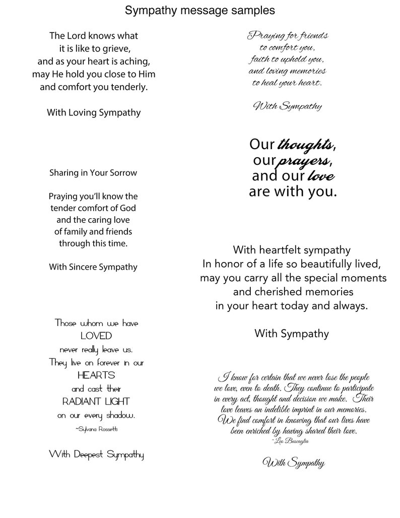 black and white custom message inside wallpaper art gold foiling Sympathy card