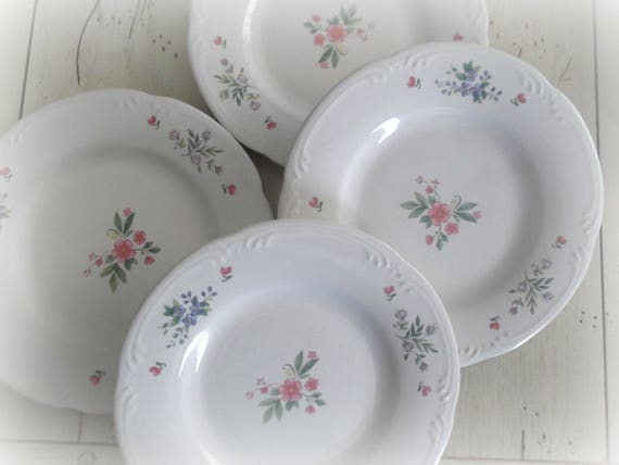 Vintage Pfaltzgraff Meadow Lane Plates, Set of 4, Replacement China