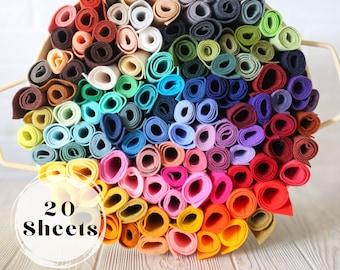 20 Sheets Wool Felt Any Colors 9 x 12