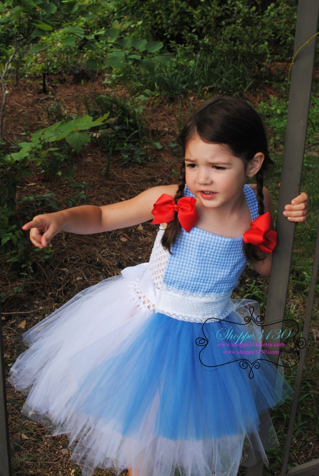 wizard of oz halloween costume dorothy tin man lion scarecrow inspired tutu dress costume for baby or toddler or children
