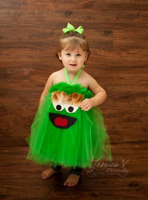 Oscar The Grouch Inspired Tutu Dress For Dress Up Playtime Made To Order