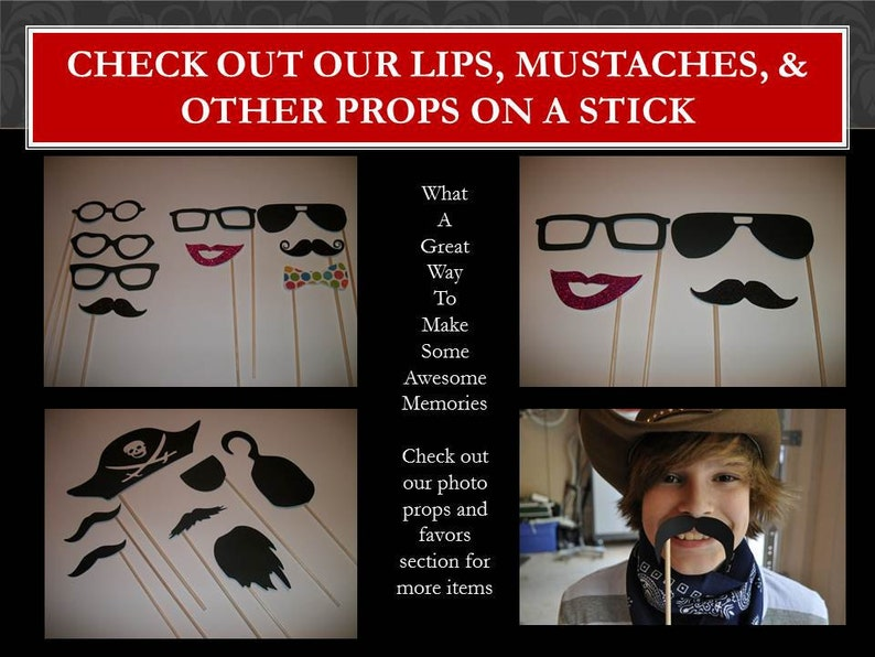 Set of 24 Glitter Lips and Shimmer Mustache Assortment on a Straw Party Favor Set of 24