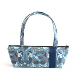 Tomboy Handbag, Zippered Purse, Purse , Handbag, Fabric Handbag, Fabric Purse, Shoulder Bags,Mermaid print