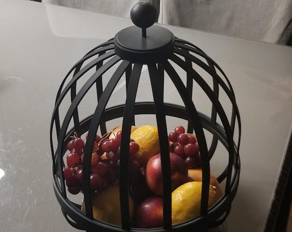 Metal Fruit Bowl & Lid, Metal Fruit Vault, Metal Fruit Basket, Custom Fruit Display for Commercial or Residential, Fruit Bowl, Fruit Basket