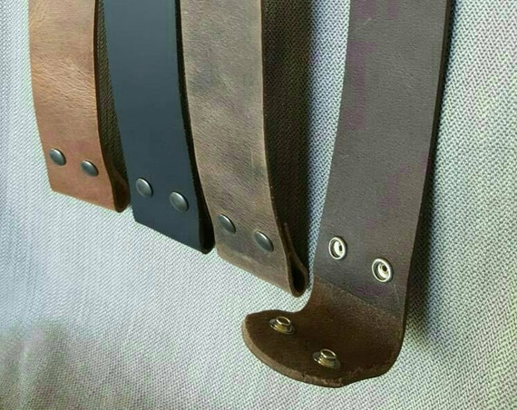 "2"" Leather Belt for Jean INTERCHANGEABLE Belt with Snaps Custom Cut Buffalo Leather Belts w/snaps  2"" Wide Custom Cut to Your Waist Size"