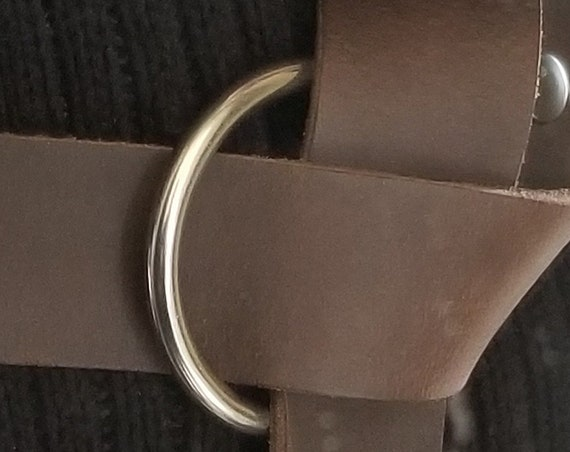 "Custom Order Listing for Jenson- Dark Brown 60"" Long Dark Brown Belt with 2-1/2"" Silver Ring Buckle- No holes, no tip."