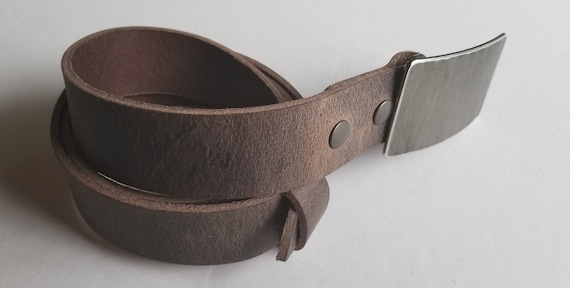 Hand Forged Belt & Buckle, Woodgrain Buckle and Belt, Signed Original, Hypoallergenic Buckle w Leather Belt, Jean Buckle and Belt w Snaps