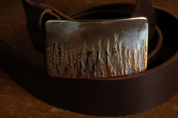 "Fireman Belt & Buckle ~ Firefighter's Hand Forged in Fire Canadian First Responder Buckle Fits 1.5"" Blue Jeans ~ Work Wear Accessory"