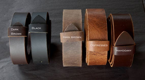 "Quality Leather Belt with Snaps for Suit or Jean - Custom Cut Leather Belts - 1.5"" and 1.25"" Wide - For All Ages - Made to Measure for YOU"