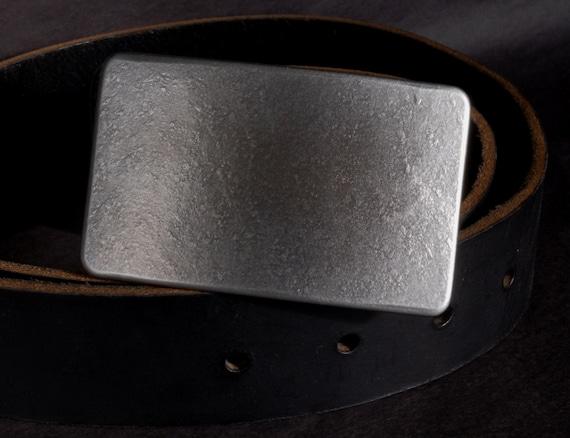 "Raw Stainless Belt Buckle, Hypoallergenic, Canadian Silver For 1.5"" Belt for Jean, Men's Buckle, Women's Buckle, Original Buckle w/ Gift Bag"
