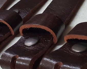 """MAHOGANY Leather Belts for Suits or Jeans, Made to Measure, Custom Cut Leather Snap Belts, 1.5"""" or 1.25"""" Unisex Belts, Adults or Kids Belts"""