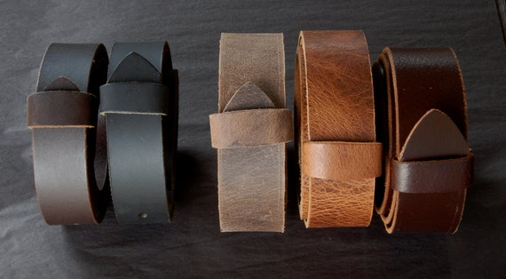 "Leather Belt with SNAPS for Jeans or Suits Custom Cut Oiled Buffalo Leather Belts Five Colours w/snaps 1.5"" and 1.25"" Wide Made to Measure"