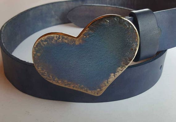 "Sweet 16 HEART Belt Buckle Love Gift Heart Shaped Buckle Valentine Gift Anniversary Gift Original Buckle Fits 1-1/2"" Leather Belt for Jeans"
