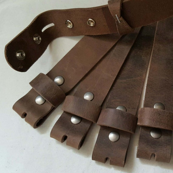 "Leather Snap Belts Fawn Brown Leather Belts for Suits or Jeans Made to Measure Custom Cut Leather Snap Belts 1.5"" or 1.25"" Cut to Your Size"