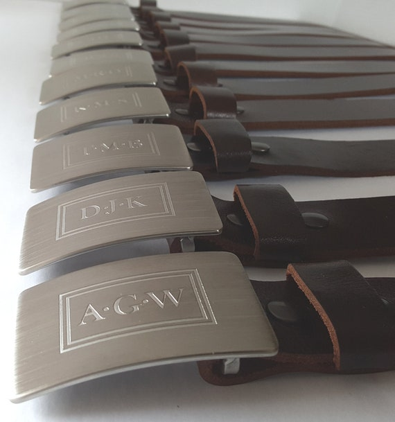 Monogrammed Belt & Buckle Set for Suits ~ Customized Gifts ~ Bespoke Gifts for Men ~ Monogram ~ Personalized Accessories ~ Gentlemen's Gifts