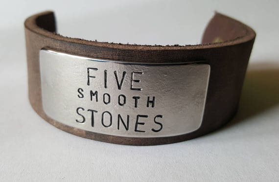 Customized Wrist Cuff ~ Personalized Leather & Metal Bracelet ~ Fawn Brown Leather with Silver Plate ~ Custom Message ~ Made for Your Wrist