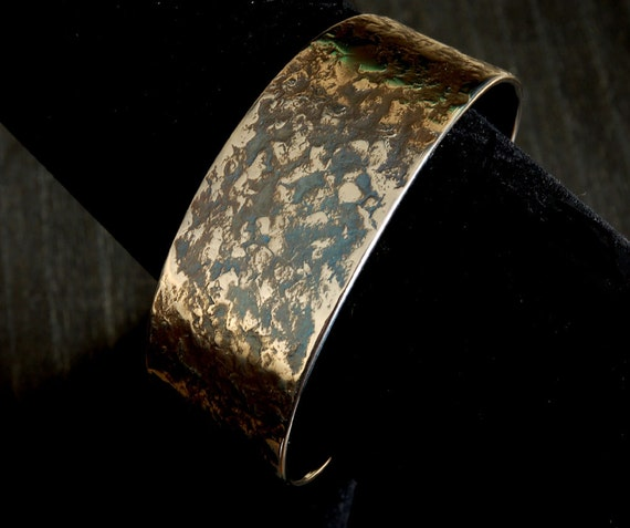 Metal Cuff Bracelet ~ Hypoallergenic ~ Anvil Textured Bracelet Signed By Artist ~ Custom Cuff ~ Made To Order ~ Custom Gift ~  Anniversary