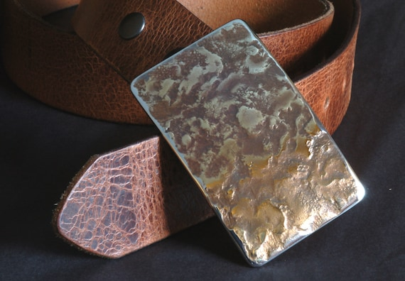 """Belt Buckle ~ Handcrafted Signed Original ~ Blue Jean Buckle ~ Gifts for Guys ~ Gifts for Gals ~ Stainless Steel Buckle Fits 1-1/2"""" Belt"""