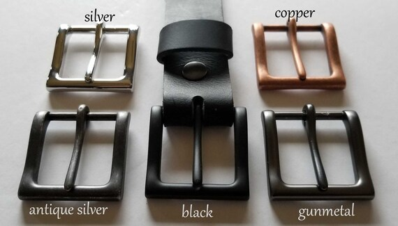 """Simple Buckle, Variety of Colors Available, Buckle for 1-1/2"""" Wide Leather Belt w/Snap, Belt for Jeans, Father's Day Gift, Mother's Day Gift"""