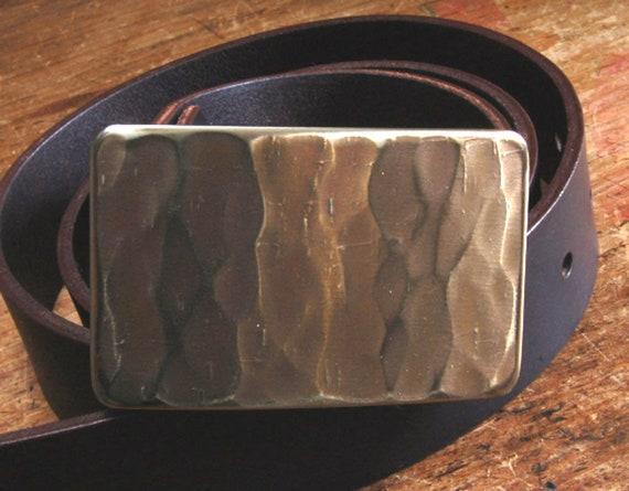 "Jean Belt Buckle Woodworker's Woodgrain Textured Hand Forged Original Carpenter's Hypoallergenic Work Wear Buckle fits 1-1/2"" Belt for Jeans"