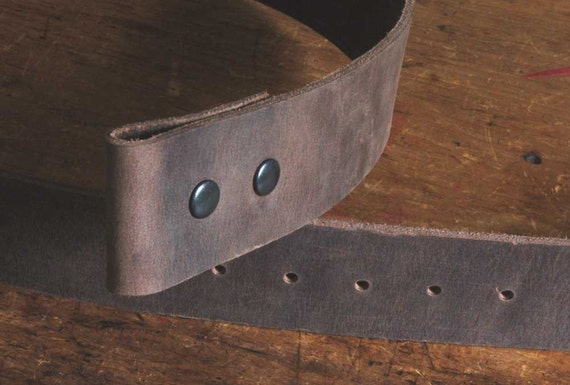 2(Two)Inch Wide Belt Full Grain Buffalo Leather Fawn, Brown, Black Great for Woodworker, Gun Belt, Kilt Belt Custom Cut to your Waist Size