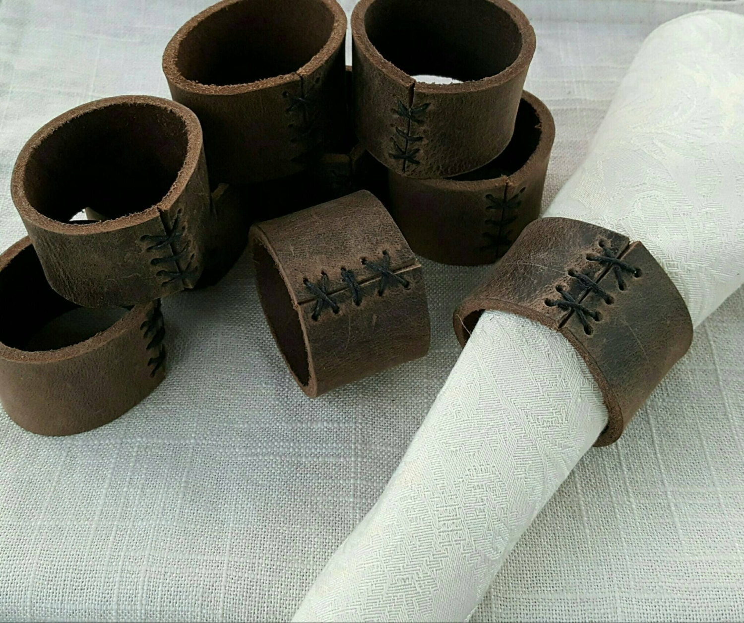 Leather Napkin Rings Chef Gifts Various Colours Available Casual Dining Alfresco Dining Hostess Gift Home Decor Stocking Stuffer Idea