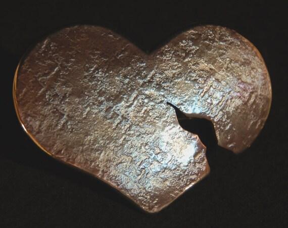 """Heart Breaker Belt Buckle fits 1.5"""" Belt for Jeans ~ Girlfriend Gift ~ Blue, Pink, Purple, Silver, Gold, Bronze ~ Heart Shaped Belt Buckle"""