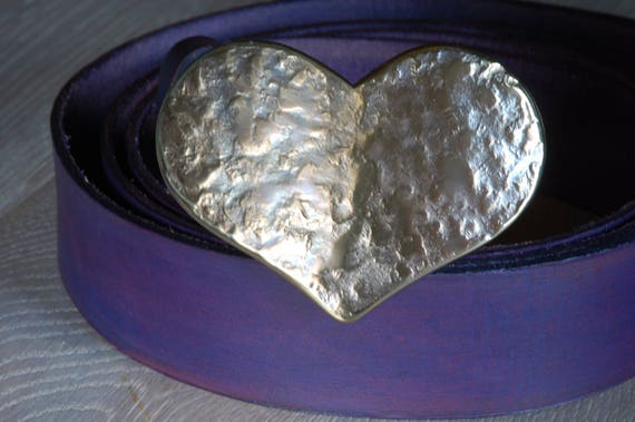 """Belt Buckle, Mother's Heart, Mother's Day, Love Gift, Sweet 16, Heart Shaped Buckle, Anniversary Gift, Buckle Fits 1-1/2"""" Leather Belt"""