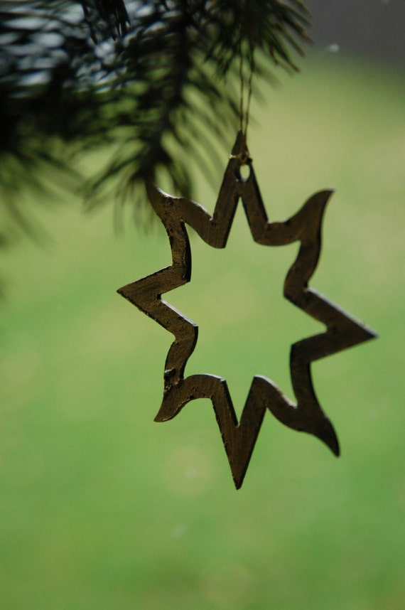 Metal Stars ~ Hand Painted with Pendant for Hanging ~ Tree Ornament, Gift Bags, Housewarming Gift~ Baby's First Ornament ~ Window Display