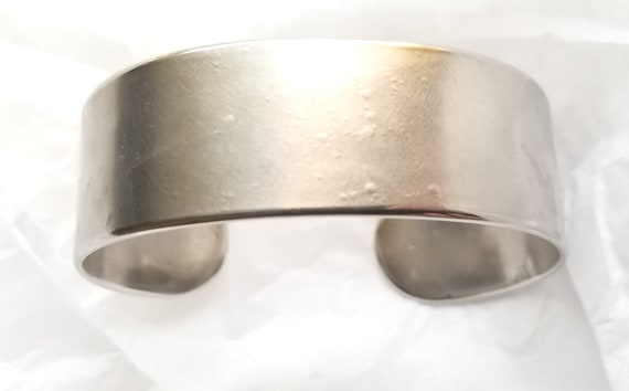 Cuff Hand Forged Silver Bracelet ~ Anvil Textured ~ Stainless Steel Anniversary Gift ~ Bridesmaid Gift ~ Signed Original ~ Gifts for Her/Him