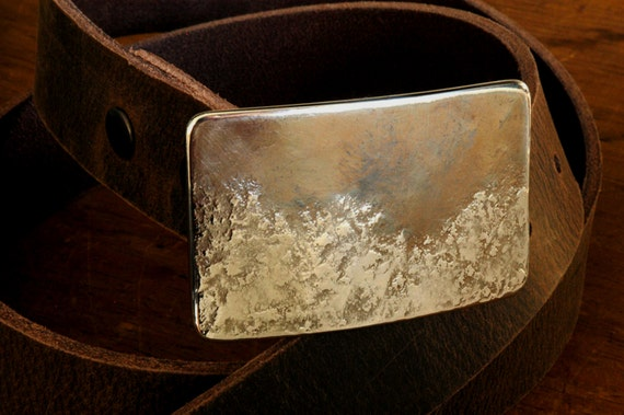 Belt & Buckle ~ Canadian Landscape ~ Waterproof Accessories ~ Hiker's Outdoor Gear ~ Artisan Signed Buckle Fits Leather Snap Belt for Jeans