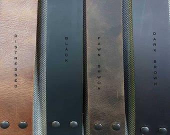 "Belt 1-3/4"" INCH Leather Belt for Jeans INTERCHANGEABLE Belt with Snaps Custom Leather Belts Men, Women & Kids Belts Cut to Your Waist Size"