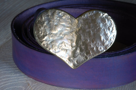 "Sweetheart Gift ~ Lover's Gift ~ HEART Belt Buckle ~ Sweet 16 Buckle ~ Hypoallergenic Accessories Original Buckle Fits 1-1/2"" Belt for Jeans"