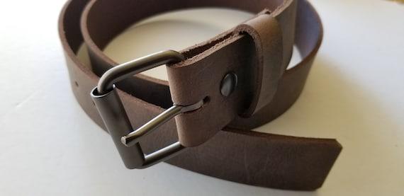 """Kilt Belt, 2"""" Leather Belt & Buckle for Scottish Kilt, INTERCHANGEABLE Belt with Snaps, Custom Belt, Two Inch Leather Belt with Buckle"""