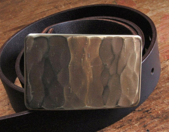 """SET Authentic Canadian Wood Grain Bronze SUIT Belt Buckle Hand Forged Stainless Steel HypoAllergenic For 1.25"""" Belt For Suit ~ Gift for Him"""