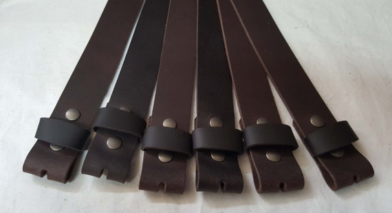 Groom & Groomsmen's Belt Dark Brown Leather Belt w/ Snaps for Suits or Jeans Made to Measure - Custom Cut Leather Snap Belts for  Wedding
