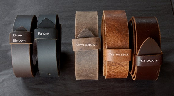 """Leather Belts for Suits or Jeans Wedding Belt Custom Cut Leather Belts 1.5"""" or 1.25"""" Wide for Men Ladies & Kids Custom Sizes Made to Measure"""