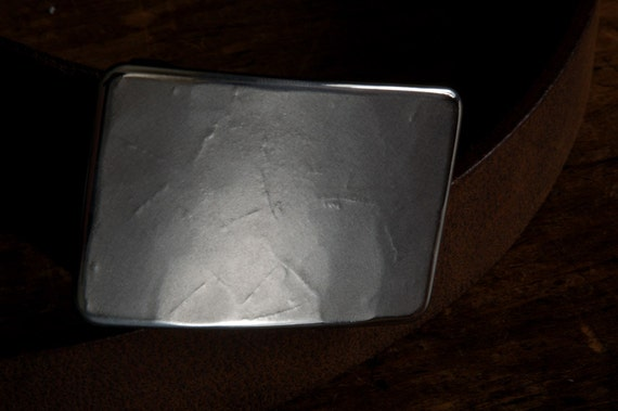 "Jack Frost Silver Suit Belt Buckle Hypoallergenic Stainless Steel Textured Classic Men's Buckle Accessories Signed Original Fits 1-1/4"" Belt"