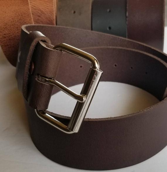 """2 INCH Belt Buckle, Work Wear, Wide Buckle, Biker Buckle, Jean Accessories, Jean Buckle,  INTERCHANGEABLE Snap Belt, 2"""" Leather Belt"""