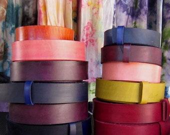 Hand Dyed Leather Belt, Variety of Colors, Belts with Snaps, Coloured Belts, Belt for Jeans, Belt for Suit, Belt for Golf, Belt & Buckle Set
