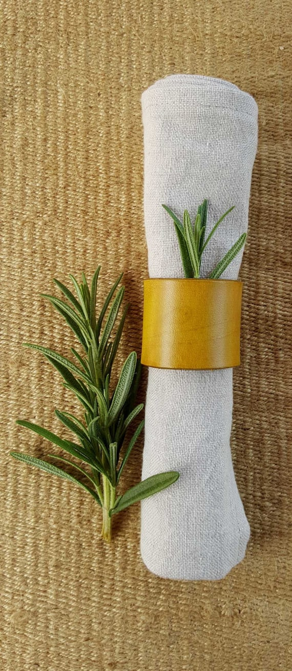 Leather Napkin Rings Chartreuse, Purple, Orange, etc Casual Dining ~ Alfresco ~ Housewarming ~ Hostess Gift ~ Home Decor ~ Kitchen Accessory