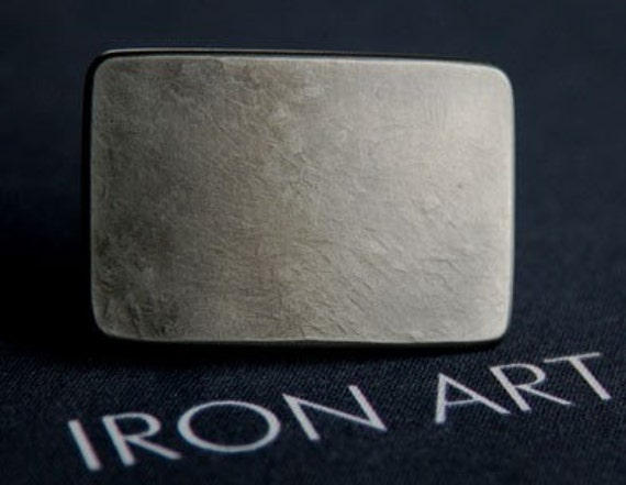 "TINY Belt Buckle - Silver Boys - Girls Hypoallergenic Stainless Steel Buckle measures 2-1/4"" x 1-1/2"" fits 1-1/4"" Leather Belts - Custom Cut"