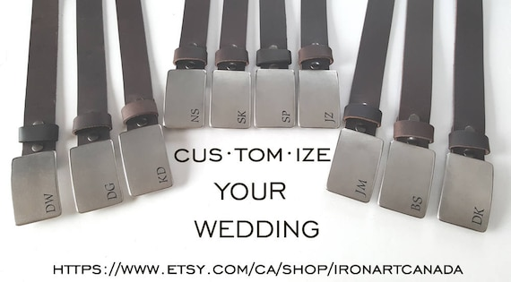 Customized Buckles & Belts  Personalized Groomsmen's Gifts  Monogrammed Wedding Keepsake Groom and Groomsmen Gift Boyfriend Gift Best Man
