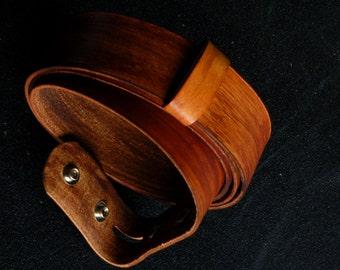 """Belt Custom Hand Dyed Wood Grain Belt w/ Snaps ~ Jean Belt ~ Custom Cut ~ Gifts for Guys, Groomsmen, Boyfriend Gift ~ 1.5"""" or 1.25"""" Wide"""