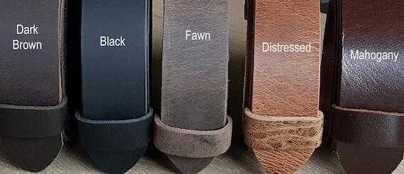 "2"" INCH Leather Belt for Jeans, Scottish Kilt Belt, INTERCHANGEABLE Belt w/ Snaps, Custom Leather Belts, Celtic Attire, Cut to Waist Size"