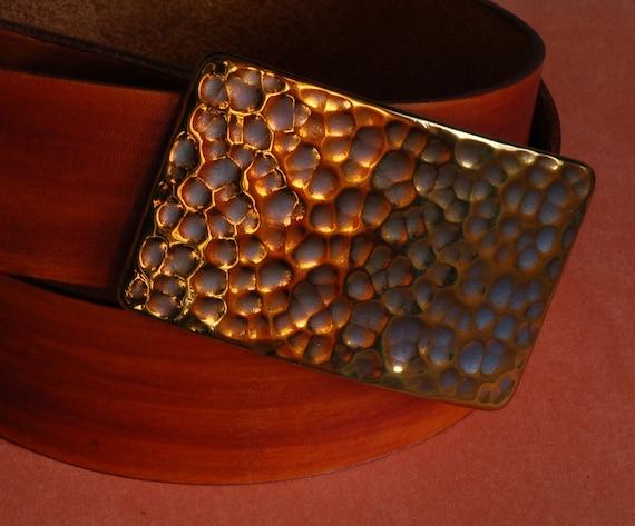 "Orange Snakeskin GOLF Belt Buckle  Fits 1.25"" Leather Snap Belt Golfing Accessories Hypoallergenic Stainless Steel Signed Pro Golf Wear"