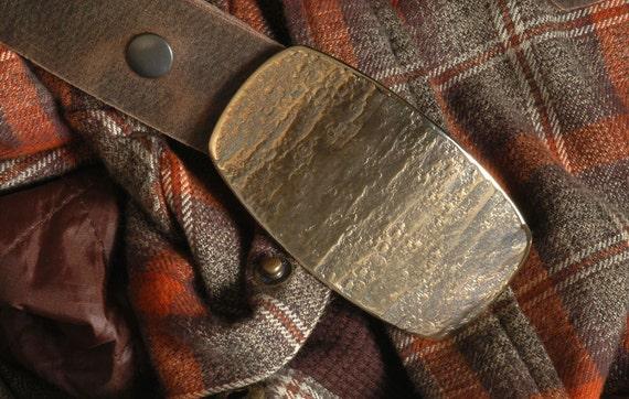 """Bronze Belt & Buckle SET Western Wear Men""""s / Women's Gold Belt Buckle Rodeo Cowboy Hypoallergenic Accessory Fits 1.5"""" Belt for Jeans /Chino"""