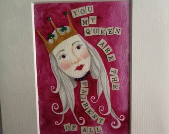 Original Artwork from the Peculiarity Oracle Cards Nita Ambani Lotus