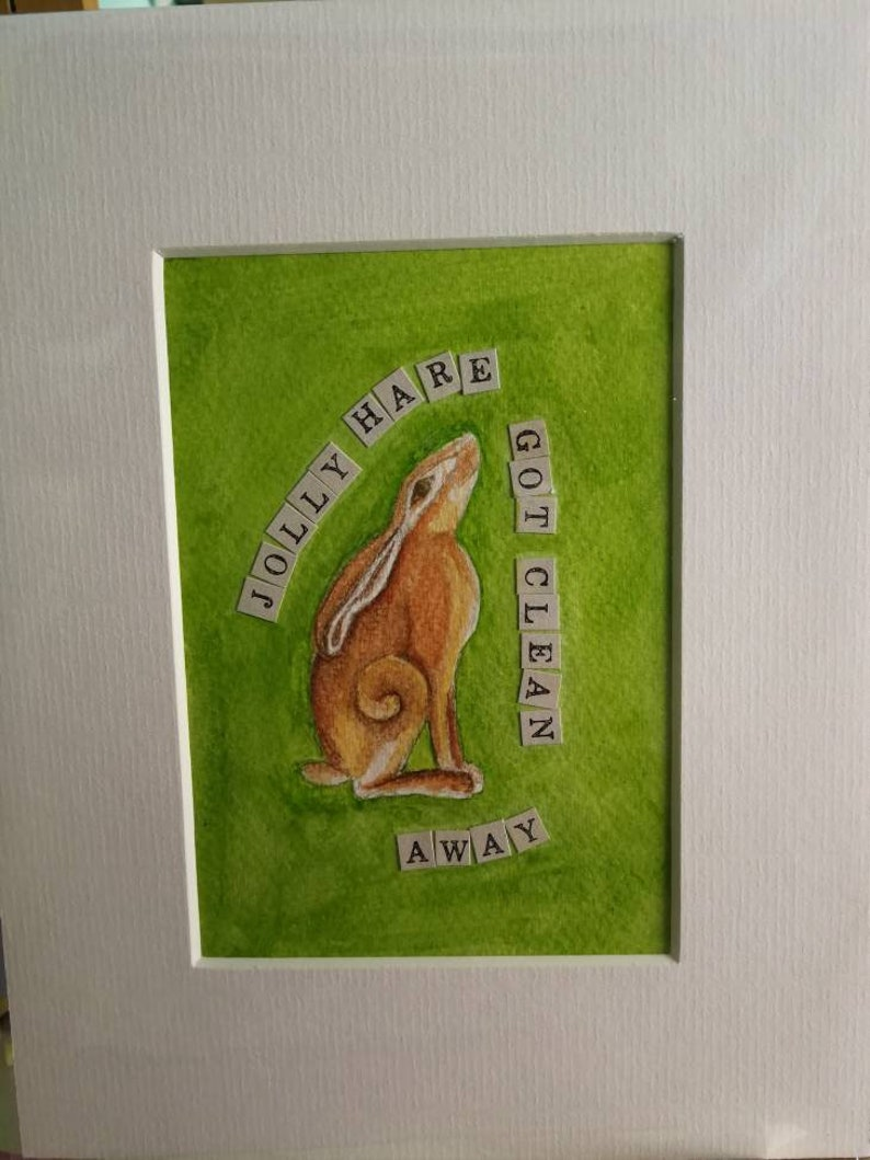 Charles Causley Original Artwork from the Peculiarity Oracle Cards Hare